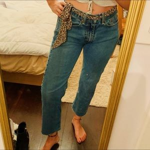 Levi's Blue Straight Leg Jeans Denim